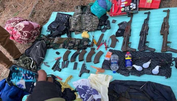 काश्मीरमध्ये दहशतवाद्यांच्या ठिकाणांचा भांडाफोड, मोठ्याप्रमाणात शस्त्र - दारूगोळा जप्त