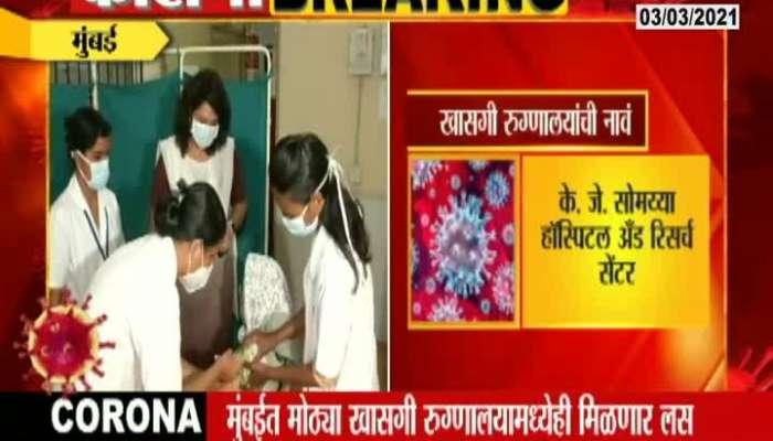 Mumbai 29 Private Hospital Corona Vaccination Update