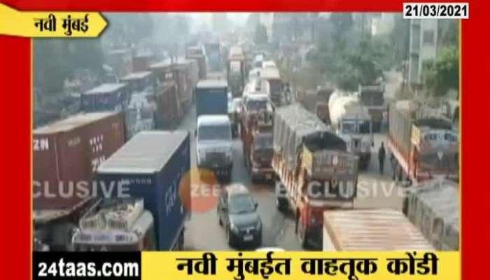 Navi Mumbai Heavy Traffic Jam