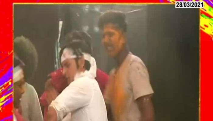 Holi Celebrations With Zee Marathi Serial Yeu Kashi Tashi Mi Nandayla Team
