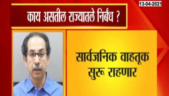 Lockdown measures taken by Cm Uddhav Thackeray.