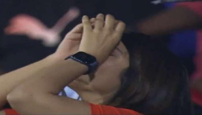 IPL 2021: हैदराबादच्या पराभवानंतर मिस्ट्री गर्ल काव्या मारनला कोसळलं रडू, फोटो