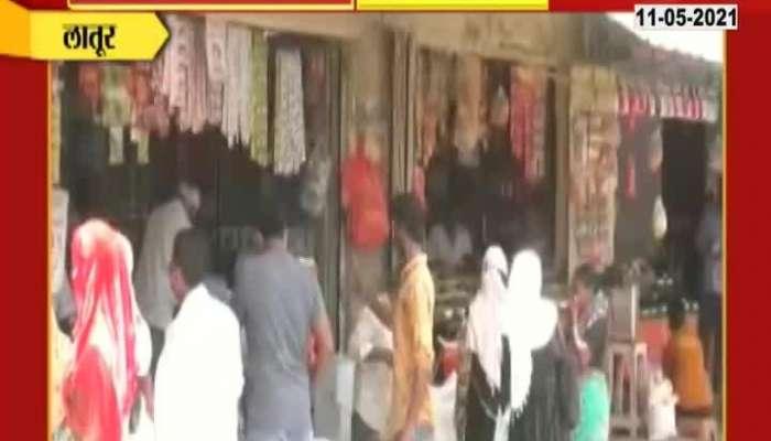 Crowd at Latur Market Of Festival of Eid