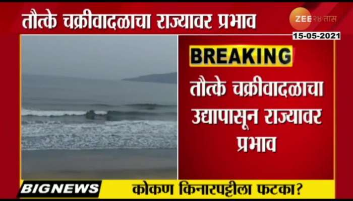 Cyclone Tauktae affects maharashtra state from tomorrow