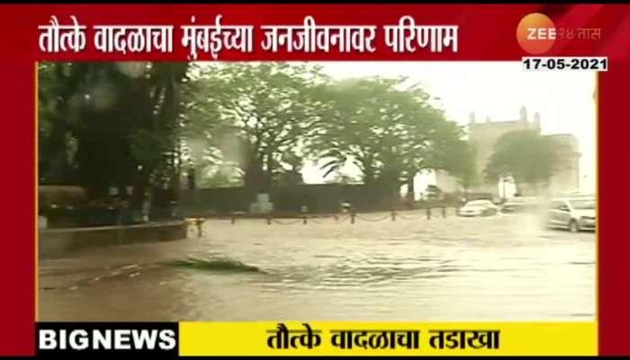 cyclone tauktae situation in Mumbai Gate way of india