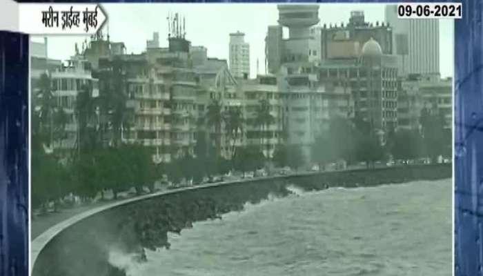 Mumbai Marine Drive Situation Low Rainfall During Hightide