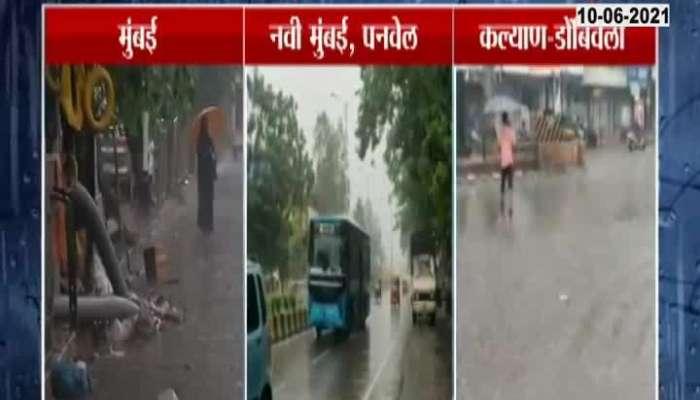 Mumbai Navi Mumbai Panvel Rain Begins From Morning As Of No Water Logging