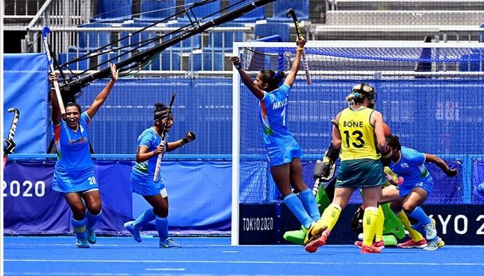 Indian Women's Hockey Team ने रचला इतिहास, पहिल्यांदा ऑलंपिक उपांत्य सामन्यात धडक