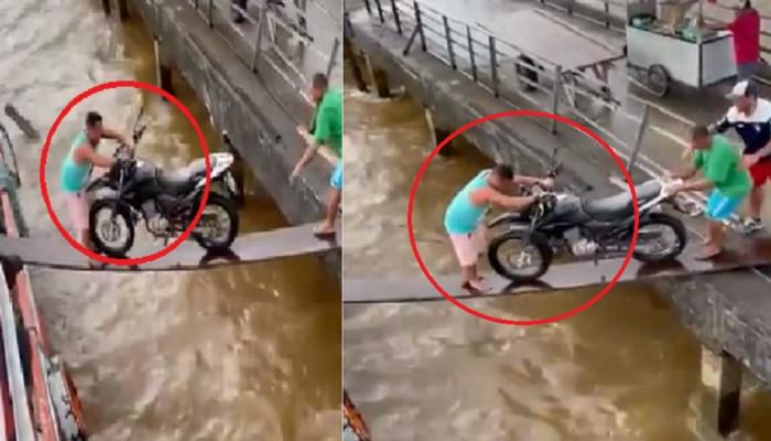ही बाईक नक्की कुठे जाईल, तुम्हाला काय वाटतं? पाहा व्हिडीओ