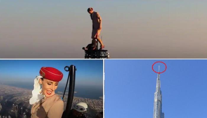 Video : बाबो....! आज मै उपर, आसमाँ नीचे...; Burj Khalifa च्या टोकावर जाऊन 'या' महिलेची कमाल