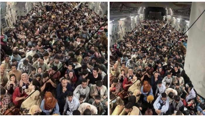 Afghanistan Crisis : गंभीर! 150 सैनिकांच्या कार्गो जेटमध्ये 800 जण; क्र्यूने घेतला मोठा निर्णय
