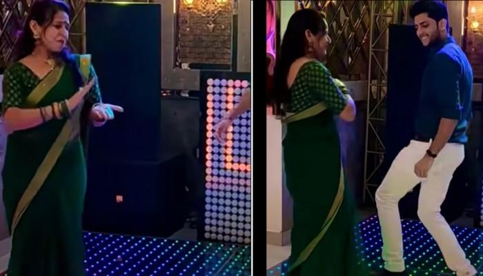 दीर आणि वहिनीच्या डान्सने लावली स्टेजला 'आग'... पाहा व्हिडीओ