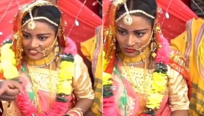 Wedding Video : लग्नमंडपात वधूची 'दादागिरी', नवरदेवाला थेट लावलं पळवून, पण का?