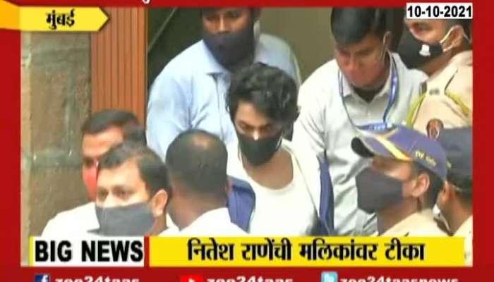Mumbai BJP MLA Nitesh Rane Criticizing Minister Nawab Malik